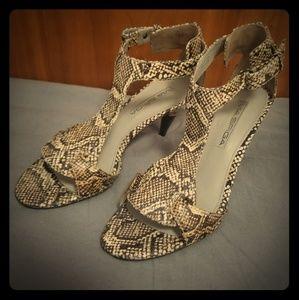 Vintage Via Spiga Snakeskin Sandals